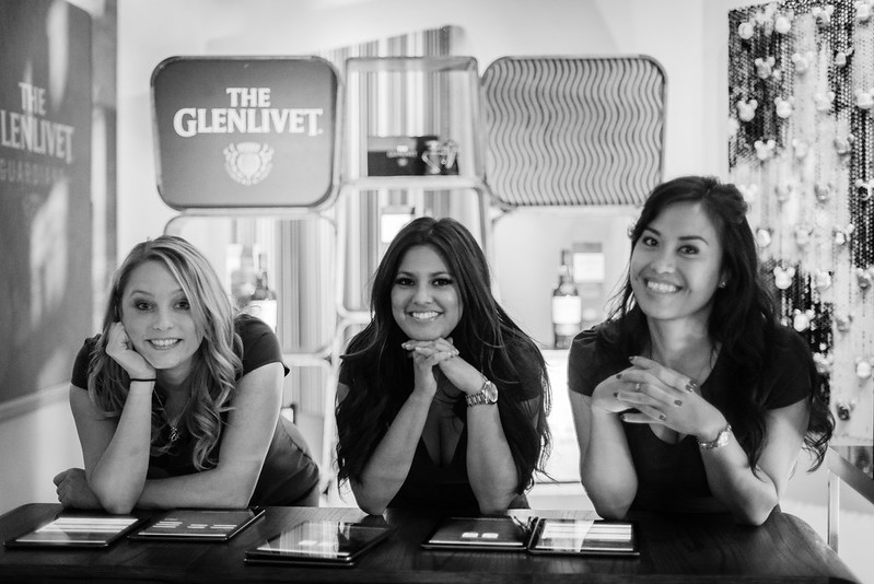 Greeted by the beautiful ladies of Glenlivet. (Actually this event was sponsored by Pernot Ricard. It's always interesting to talk to these ladies about how they got to host such an event.)
