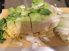 白菜はざく切りにします