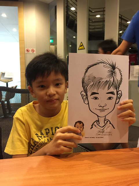 Caricature live sketching for baby birthday party