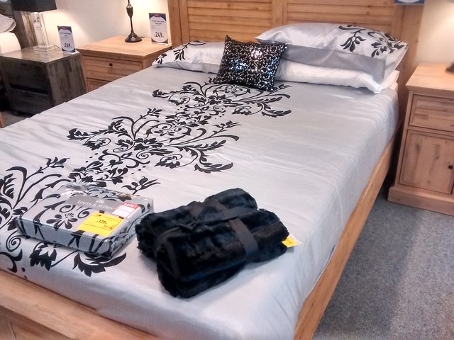 Bed and bedspread at amart