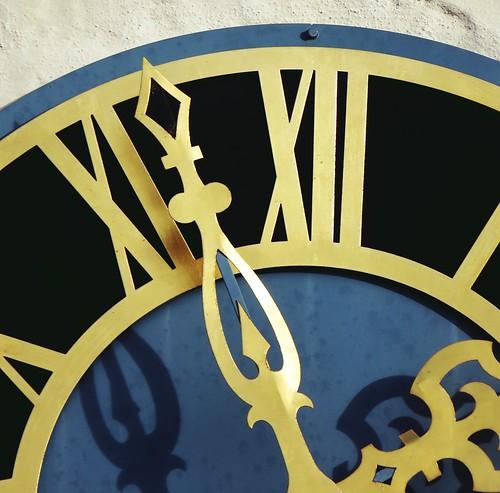 SX60 - Zoomer - Belltower Clock Kirchturmuhr Dettensee. Dettensee Kirche - Heiliger Cyriak