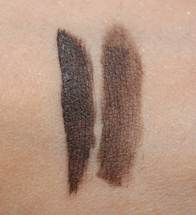 Anastasia dark brown dip brow pomade swatch