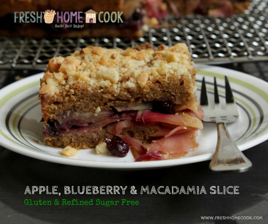 Apple, Blueberry & Macadamia Slice