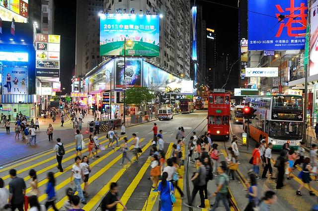 Causeway bay pedestrian crossing