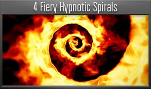 4 Fiery Hypnotic Spirals - 5