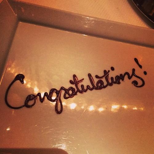 miX @ Delanos säger grattis i choklad