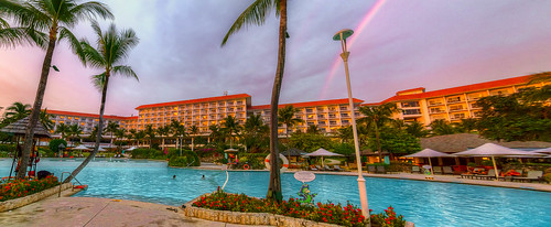 beach pool rainbow view philippines shangrila views cebu ultrawide hdr mactan 2014 cebusugbo tokina1116 allansoul