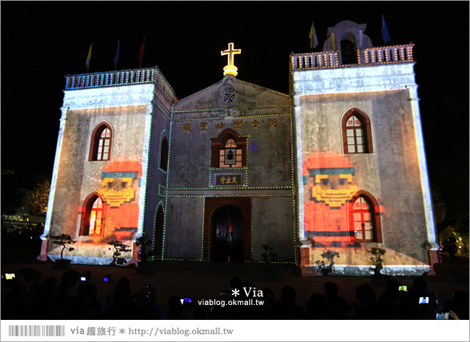 【萬金教堂】屏東萬金教堂聖誕季~3D光雕秀+耶誕地景藝術/全台最濃耶味小鎮!17
