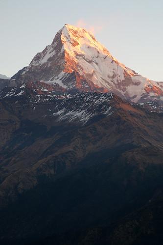 nepal sunrise himalayas poonhill annapurnasouth punhill annapurnarange