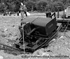 Tracks to the Trenches 2014, 20HP Motor Rail Tractor B&W