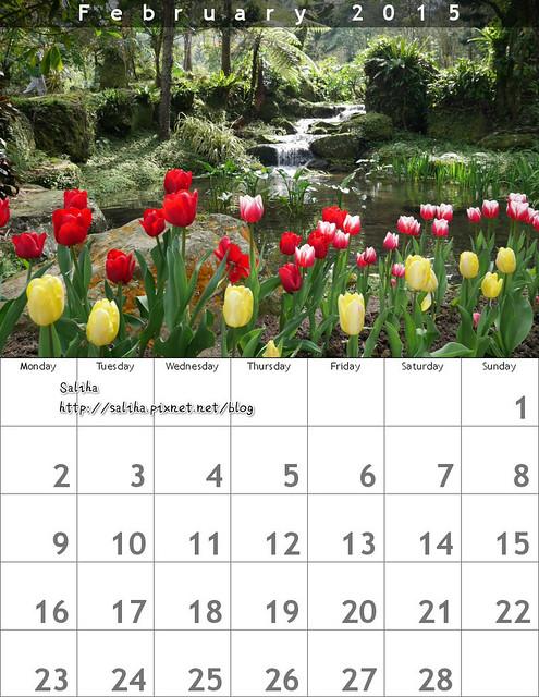 自己作桌曆月歷年曆diy禮物 (1)