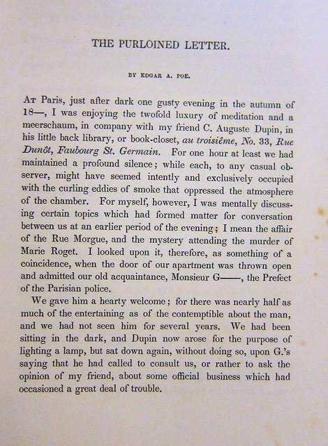 poe purloined letter