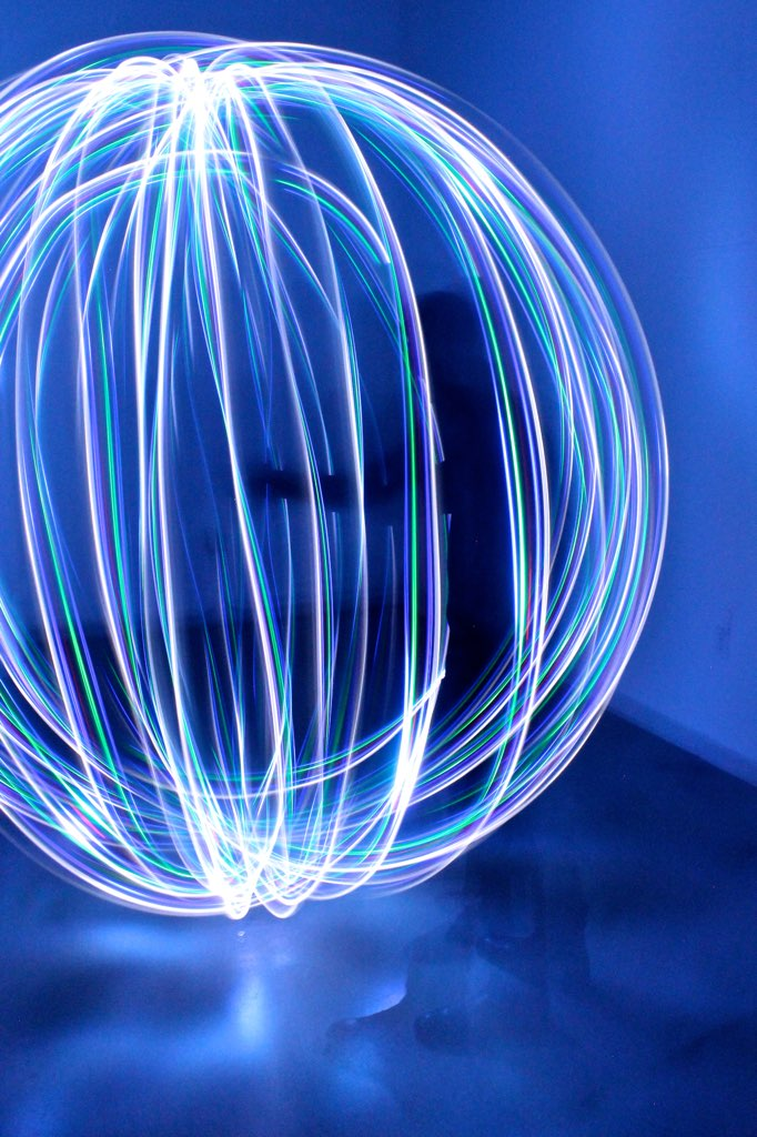 blue light painting via The Caffeinated Closet