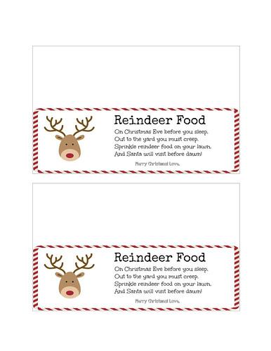 Reindeer Food Signable Printable