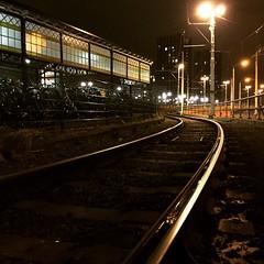 close to the tracks