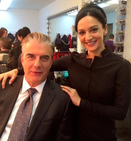 With Archie Panjabi