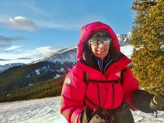 Helen Climbing Mt. Elbert