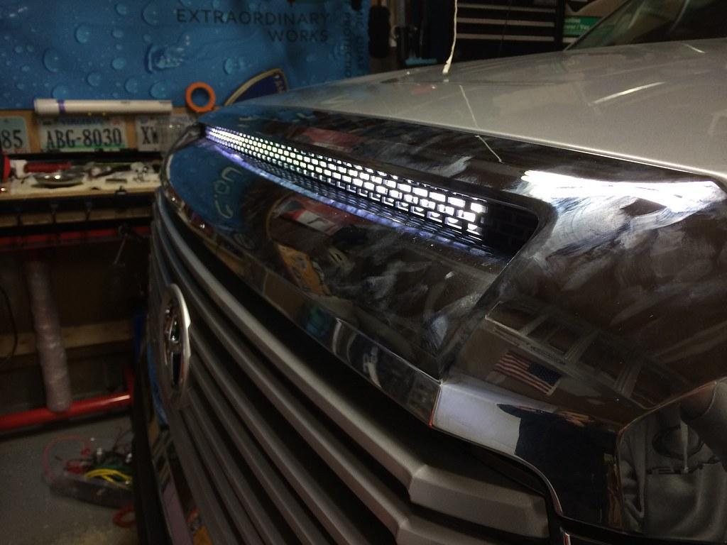 GreatAvalon\'s Hood Bulge LED Bar - TundraTalk.net - Toyota Tundra ...