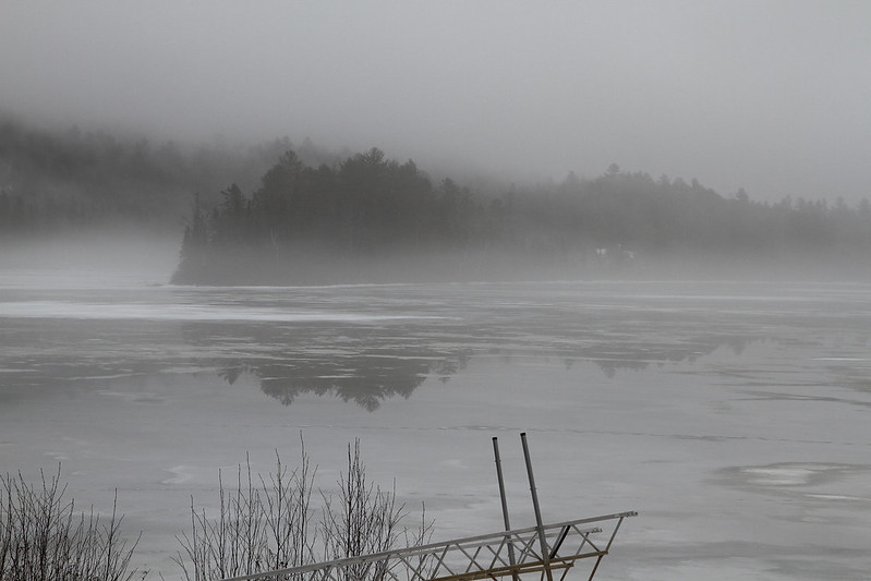 fog on melting ice