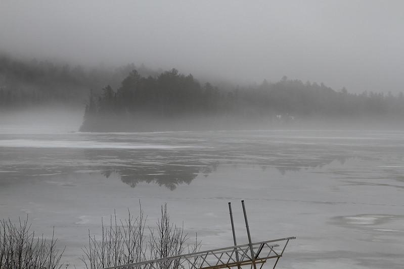 fog on melting ice