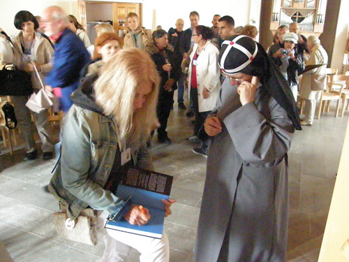 Sister Monica, tells the story of the monastery - Vassula writes a personal dedication in the book, Heaven is real, but so is Hell.