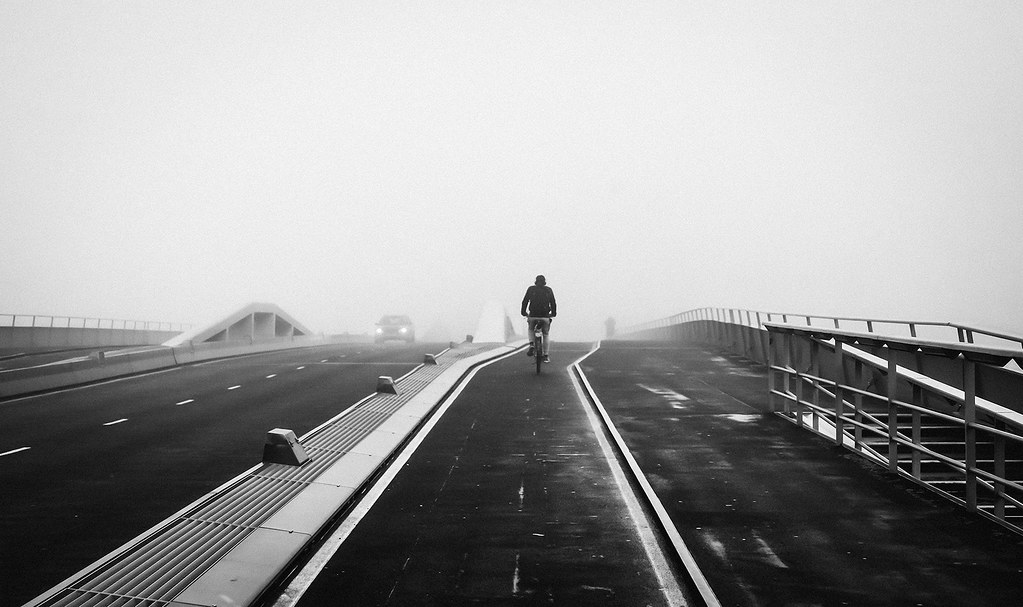 Fog along Jan Schaeferbrug