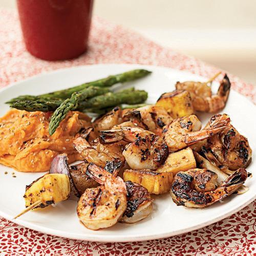 1. Grilled Teriyaki Shrimp Kebabs