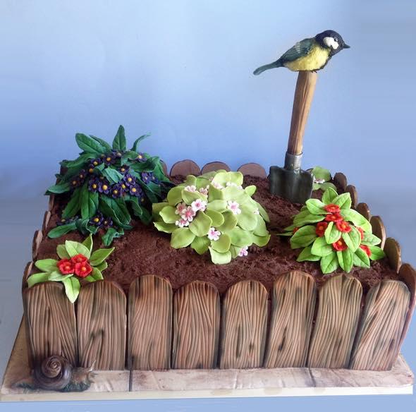 Flowerbed Cake by Kie Spate