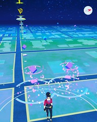 Over by my office doing some late night #pokemongo #pokemonhunting the #luremodules are out!! Come join me in the parking lot.... Its not creepy or nerdy or both...  #nerd wish it was by a body of water though... #waterpokemondreams