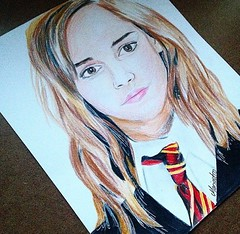 Hermione from Harry Potter movie #artwork #harrypotter #drawing #prisma #photo #cool #alike #live #frame #photo #best