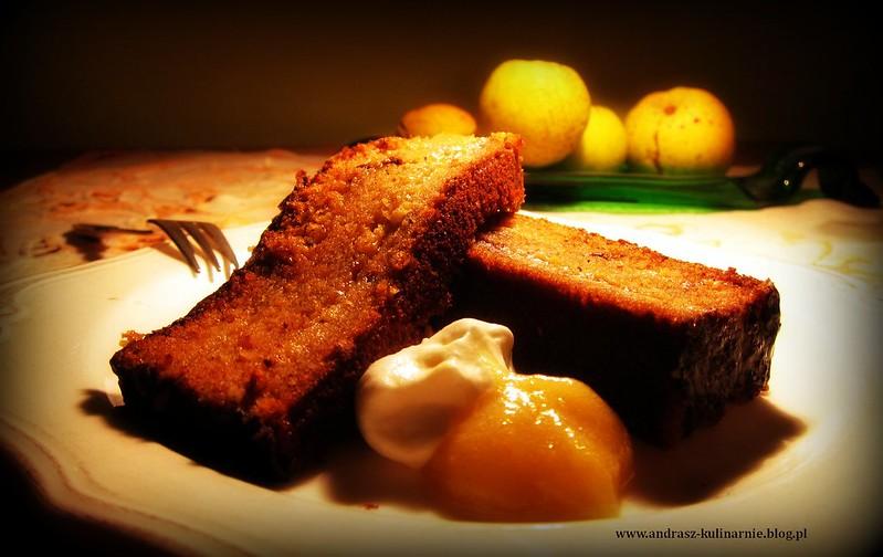 ciasto marchewkowe z dżemem z pigwowca