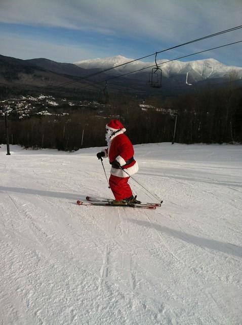 Santa skis at Bretton Woods