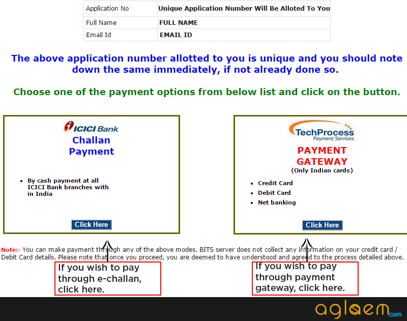 BITSAT Online Application Form 2015