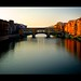 Sunrise over the Arno River and the  Ponte Vecchio by lee.mccain.photorama