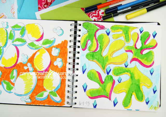 Colour play in my sketchbook