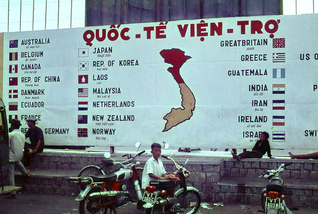 'The Flags' in downtown Vung Tau 1969-70 - Photo by Ian Douglas