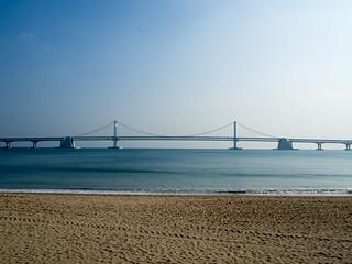 Image of Gwangalli Beach (광안리해수욕장) Gwangalli Beach near Suyeong-gu. olympus e omd em10