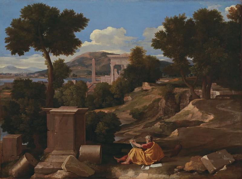 Nicolas Poussin - Landscape with Saint John on Patmos (1640)