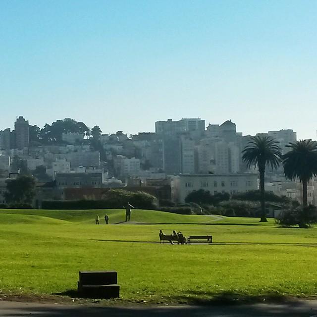 Upea aurinkoinen päivä San Franciscossa
