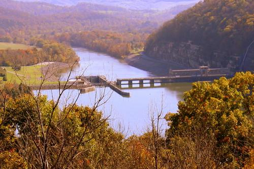 Cordell Hull Dam (View from Bearwaller Gap Overlook)