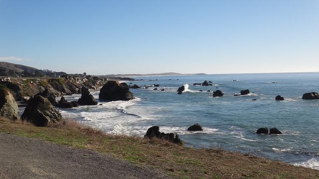 Rocky coastline north of Bodega Bay