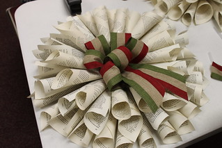 Maker Monday: Recycled Book Wreath