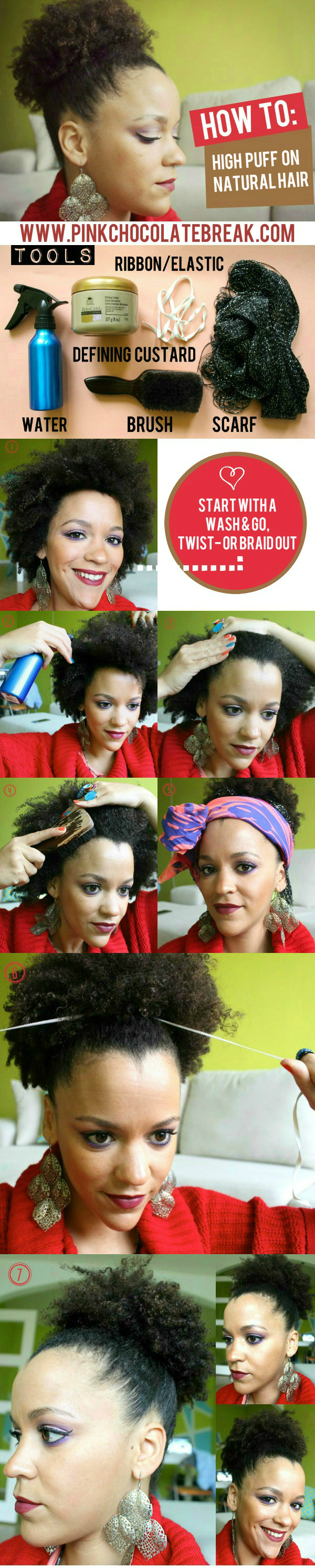 how to high bun on natural hair 11