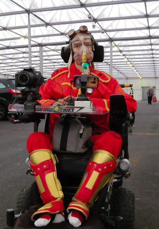 Daniel Baker in Steampunk Iron Man costume