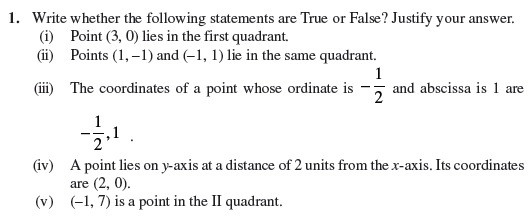 Class 9 Important Questions for Maths - Coordinate Geometry
