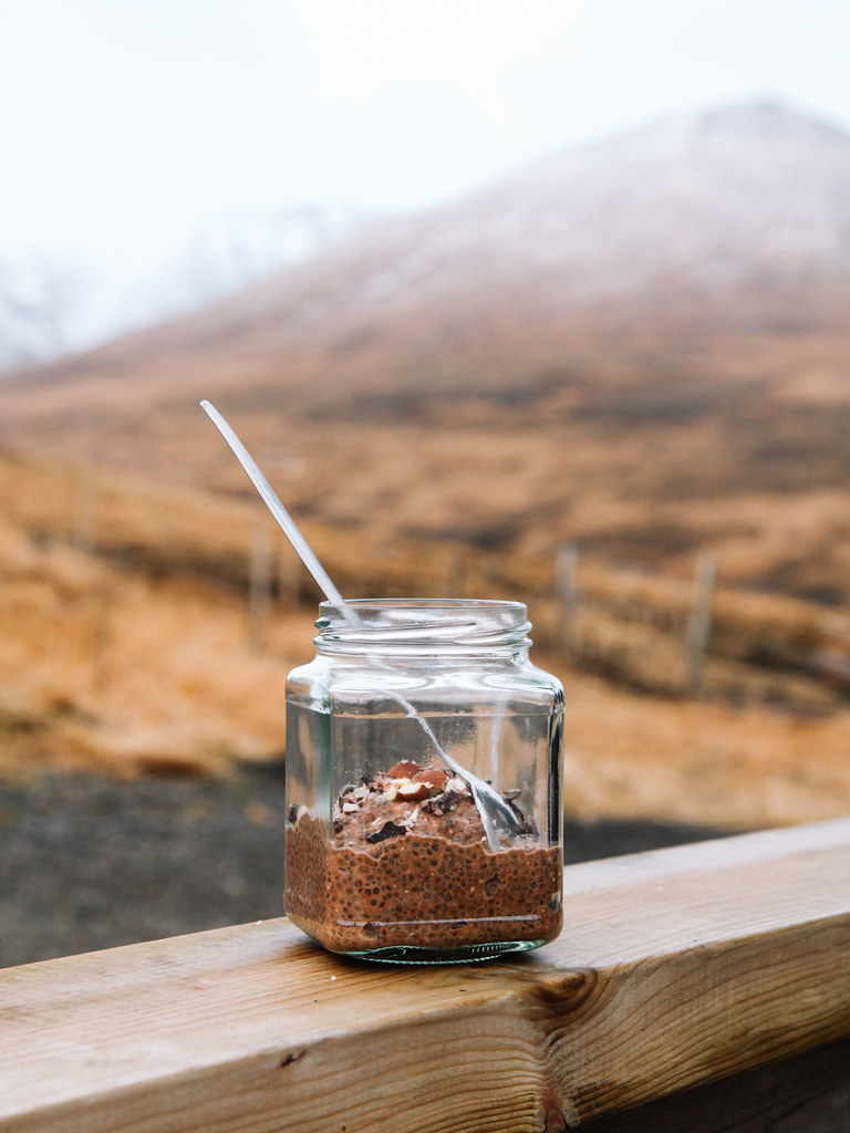 Double cacao chia pudding