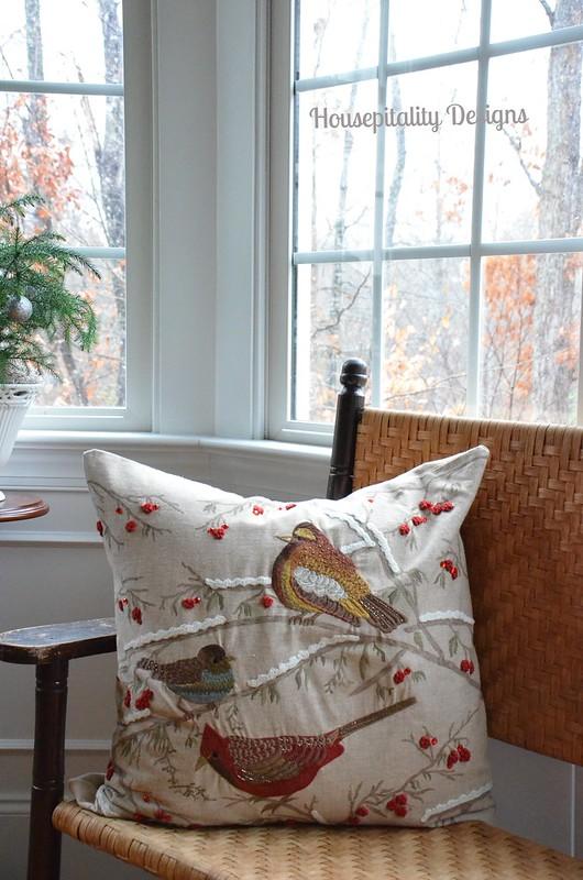 Winter Birds Pillow-Housepitality Designs