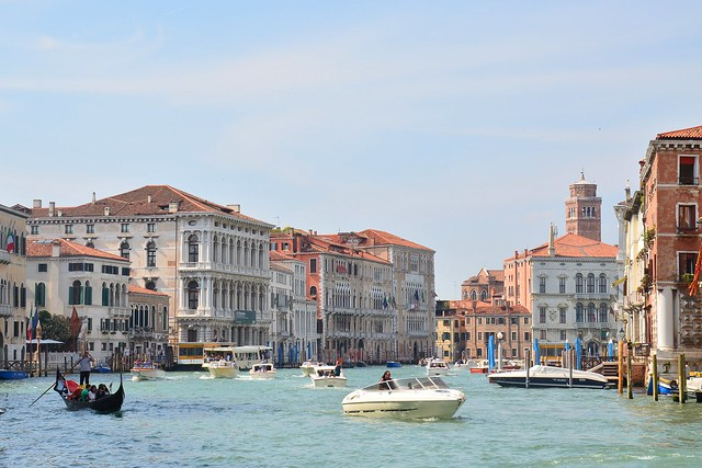 view from the Accademia Bridge, Venice