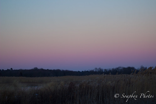 """Sunset at Edwin B. Forsythe National Wildlife Refuge, Jan. 10, 2015"""