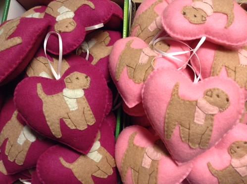 60 Wheaten Terrier Valentine Ornaments